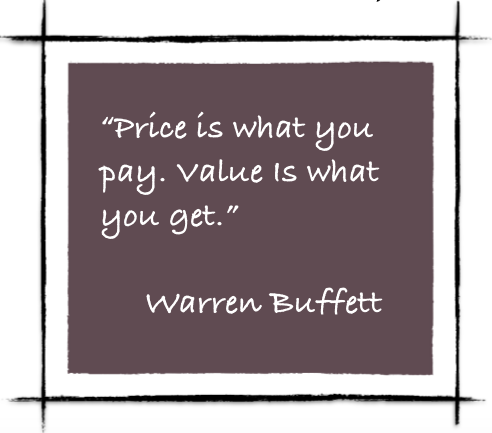 Price:Value Buffett Quote