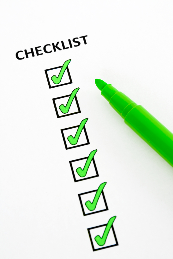 how to create a good checklist