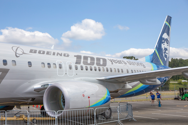 B-737 900ER at Boeing's centennial celebrations.